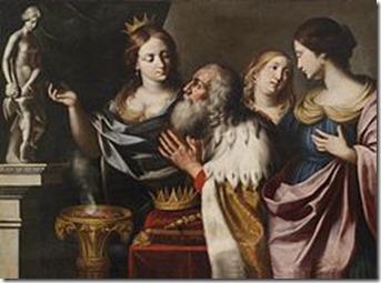 Giovanni_Venanzi_di_Pesaro_König_Salomons_Götzendienst- Naamah King Solomon's Wife