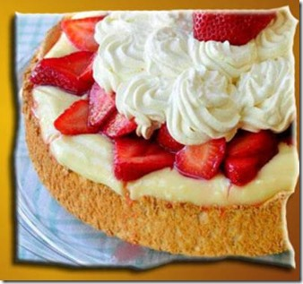 VANILLA CUSTARD ANGEL FOOD STRAWBERRY SHORTCAKE